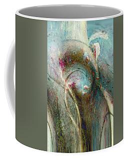 Coffee Mug featuring the digital art Flugufrelsarinn by Linda Sannuti