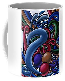 Colorful Abstract Art Painting Chromatic Water Artwork  Coffee Mug