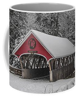 Flume Covered Bridge In Winter Coffee Mug