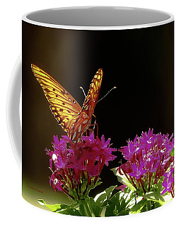 Coffee Mug featuring the photograph Fluttering About by DigiArt Diaries by Vicky B Fuller