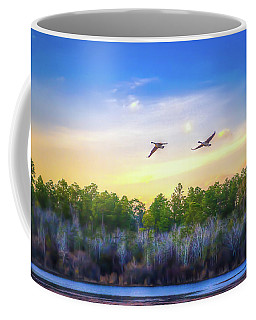Coffee Mug featuring the photograph Fly Away by Maddalena McDonald