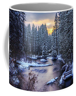 Fly Fisherman On The Metolius Coffee Mug