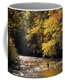 Fly Fisherman On The Tellico - D010008 Coffee Mug by Daniel Dempster