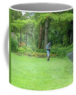 Fly Fishing On Trout Run Creek Coffee Mug