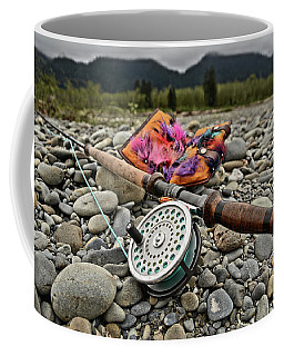 Fly Rod And Streamers Landscape Coffee Mug