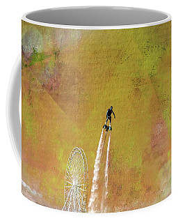 Flyboard, Sketchy And Painterly Coffee Mug