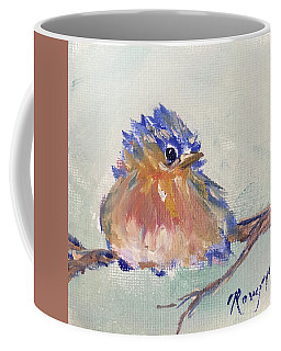 Fluffy Bluebird Chick Coffee Mug