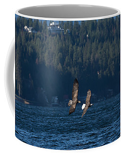 Flying Bald Eagles Coffee Mug