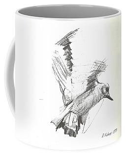 Flying Bird Sketch Coffee Mug