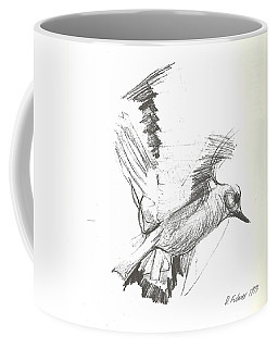 Flying Bird Sketch Coffee Mug