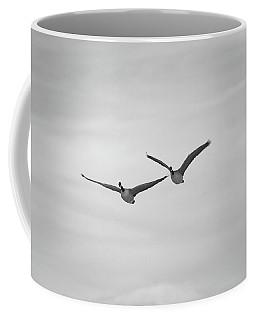 Coffee Mug featuring the photograph Flying Companions by Jason Coward