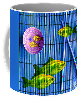 Flying Fish And The Pink Moon Coffee Mug