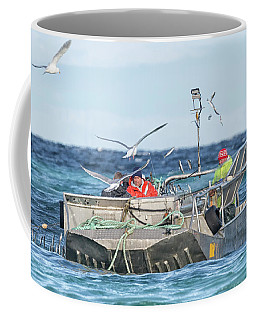 Coffee Mug featuring the photograph Flying Fish by Randy Hall