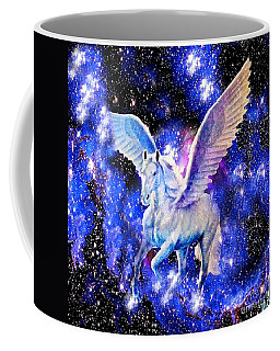 Flying Horse In The Starry Night Sky Coffee Mug