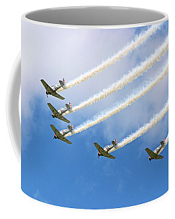 Coffee Mug featuring the photograph Flying In Formation by Kristin Elmquist
