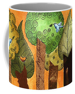 Flying In The Forest Coffee Mug