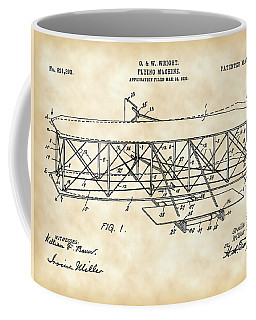 Flying Machine Patent 1903 - Vintage Coffee Mug by Stephen Younts