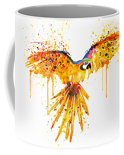 Flying Parrot Watercolor Coffee Mug