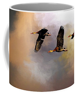 Flying South For The Winter Coffee Mug by Cyndy Doty