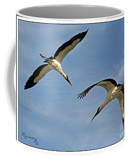 Coffee Mug featuring the photograph Flying The Friendly Sky by Mariarosa Rockefeller