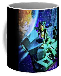 Flying Through Galaxies Coffee Mug