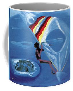 Flying Windsurfer Coffee Mug
