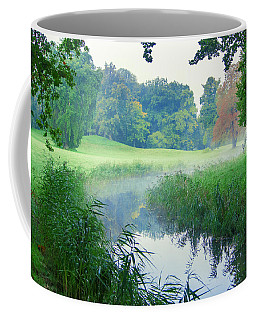 Fog Along A Creek In Autumn Coffee Mug