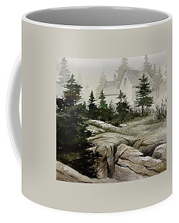 Coffee Mug featuring the painting Fog At The Coast by James Williamson