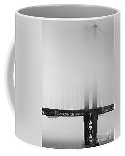 Fog At The Golden Gate Bridge 4 - Black And White Coffee Mug