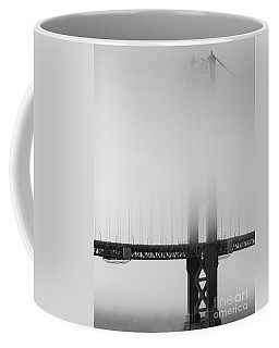 Fog At The Golden Gate Bridge 4 - Black And White Coffee Mug