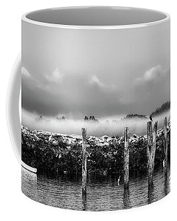 Fog Beyond The Breakwater Coffee Mug