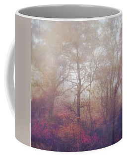 Fog In Autumn Mountain Woods Coffee Mug