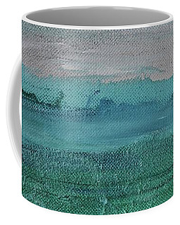 Coffee Mug featuring the painting Fog In The Bay by Kim Nelson