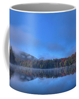 Coffee Mug featuring the photograph Fog Lifting On West Lake by David Patterson