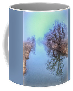 Fog On The Redwater Coffee Mug by Fiskr Larsen