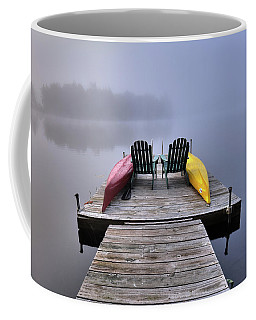 Coffee Mug featuring the photograph Fog On West Lake by David Patterson