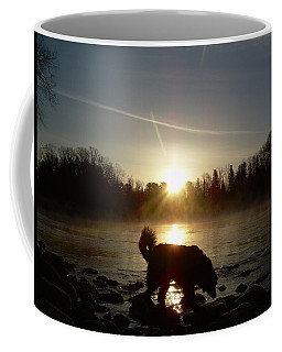 Coffee Mug featuring the photograph Fog Over Mississippi River by Kent Lorentzen