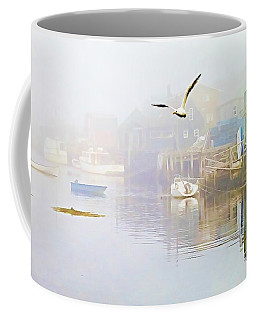 Fog Over West Dover - Digital Paint Coffee Mug