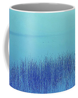 Coffee Mug featuring the photograph Fog Reeds by Laurie Stewart