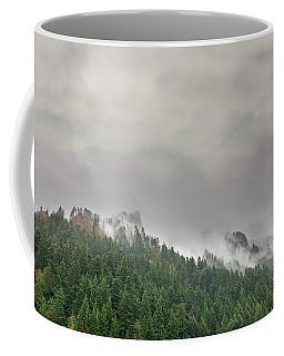 Fog Rolling Over Columbia River Gorge Coffee Mug