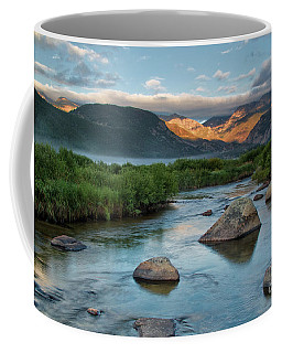 Fog Rolls In On Moraine Park And The Big Thompson River In Rocky Coffee Mug
