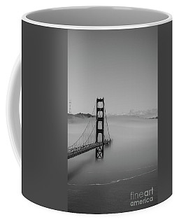 Coffee Mug featuring the photograph Fogging The Bridge by David Bearden
