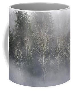 Foggy Alders In The Forest Coffee Mug