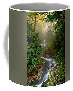 Foggy Autumn Cascades Coffee Mug