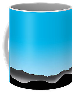Foggy Blue Sky San Jacintos Coffee Mug