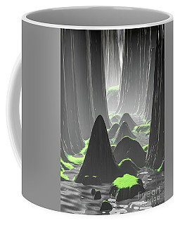 Foggy Canyon Walls Coffee Mug