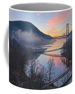 Foggy Dawn At Three Bridges Coffee Mug
