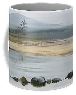 Coffee Mug featuring the painting Foggy Day by Ivana