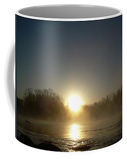 Coffee Mug featuring the photograph Foggy Mississippi River Sunrise by Kent Lorentzen