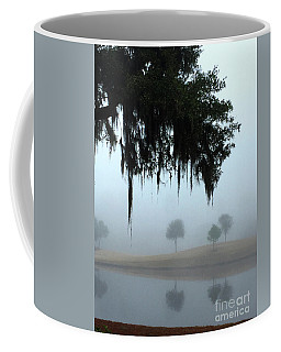 Coffee Mug featuring the photograph Foggy Morn Reflections by Rick Locke
